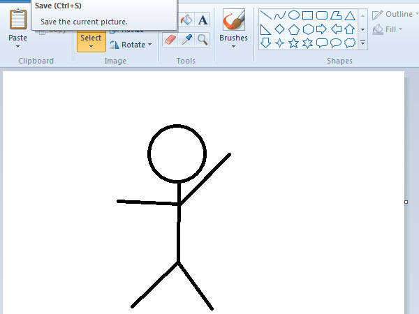 ms paint stickman