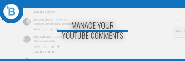block youtube comments header